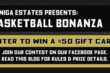 Basketball Bonanza. Enter to win a $50 Gift Card! Join our contest on our Facebook page. Read this blog for rules and prize details.
