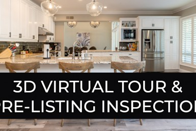 Picture of Kitchen. Text states: 3D Virtual Tour & Pre-Listing Inspection
