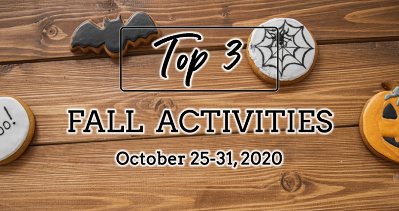 TOP 3 FALL ACTIVITIES: OCTOBER 25-31, 2020