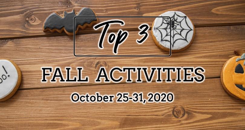 TOP 3 FALL ACTIVITIES: OCTOBER 25-31, 2020