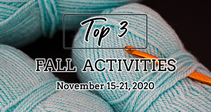 TOP 3 FALL ACTIVITIES: NOVEMBER 15-21, 2020