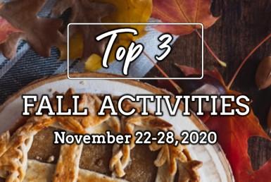 Top 3 Fall Activities: November 22-28, 2020