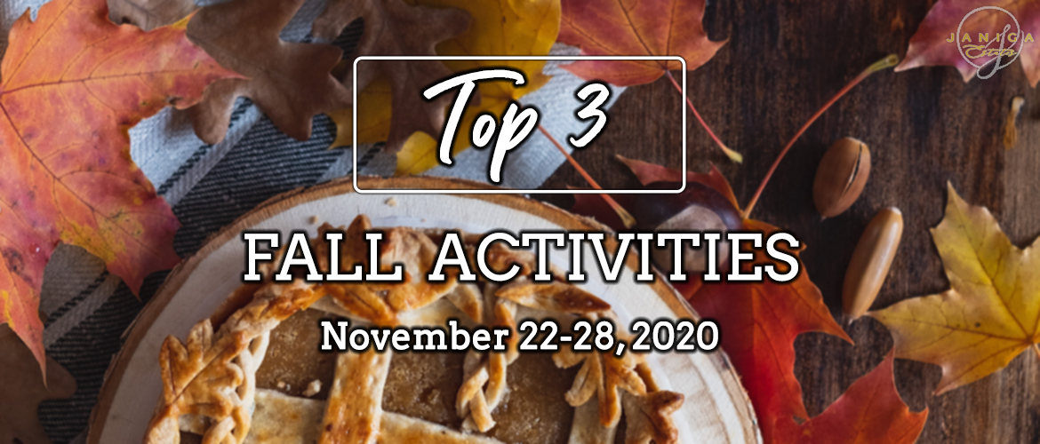 TOP 3 FALL ACTIVITIES: NOVEMBER 22-28, 2020