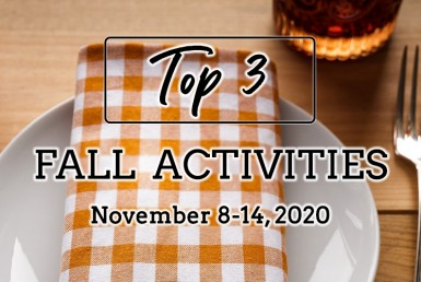 Top 3 Fall Activities: November 8-14, 2020.