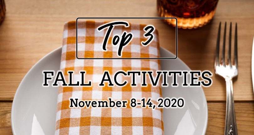 TOP 3 FALL ACTIVITIES: NOVEMBER 8-14, 2020