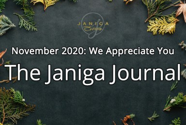 The Janiga Journal: November 2020: We Appreciate You