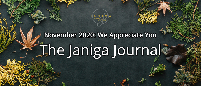November 2020: We Appreciate You
