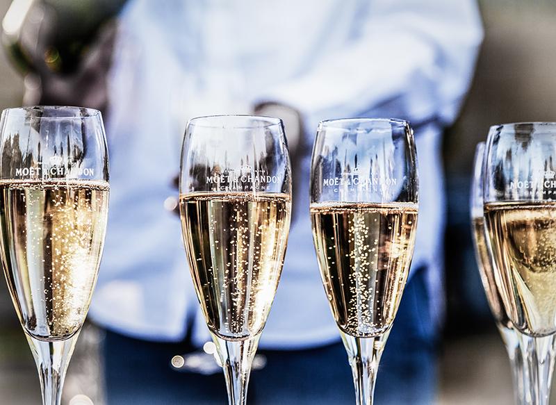 4 Champagne glasses
